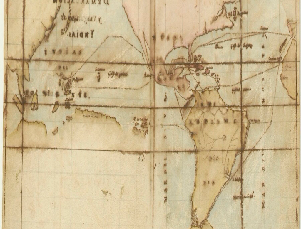 16th century map of the pacific